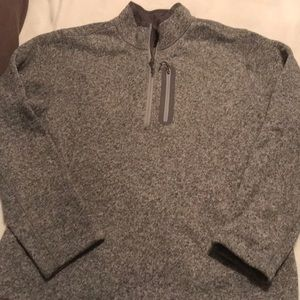marled grey quarter zip from lands end